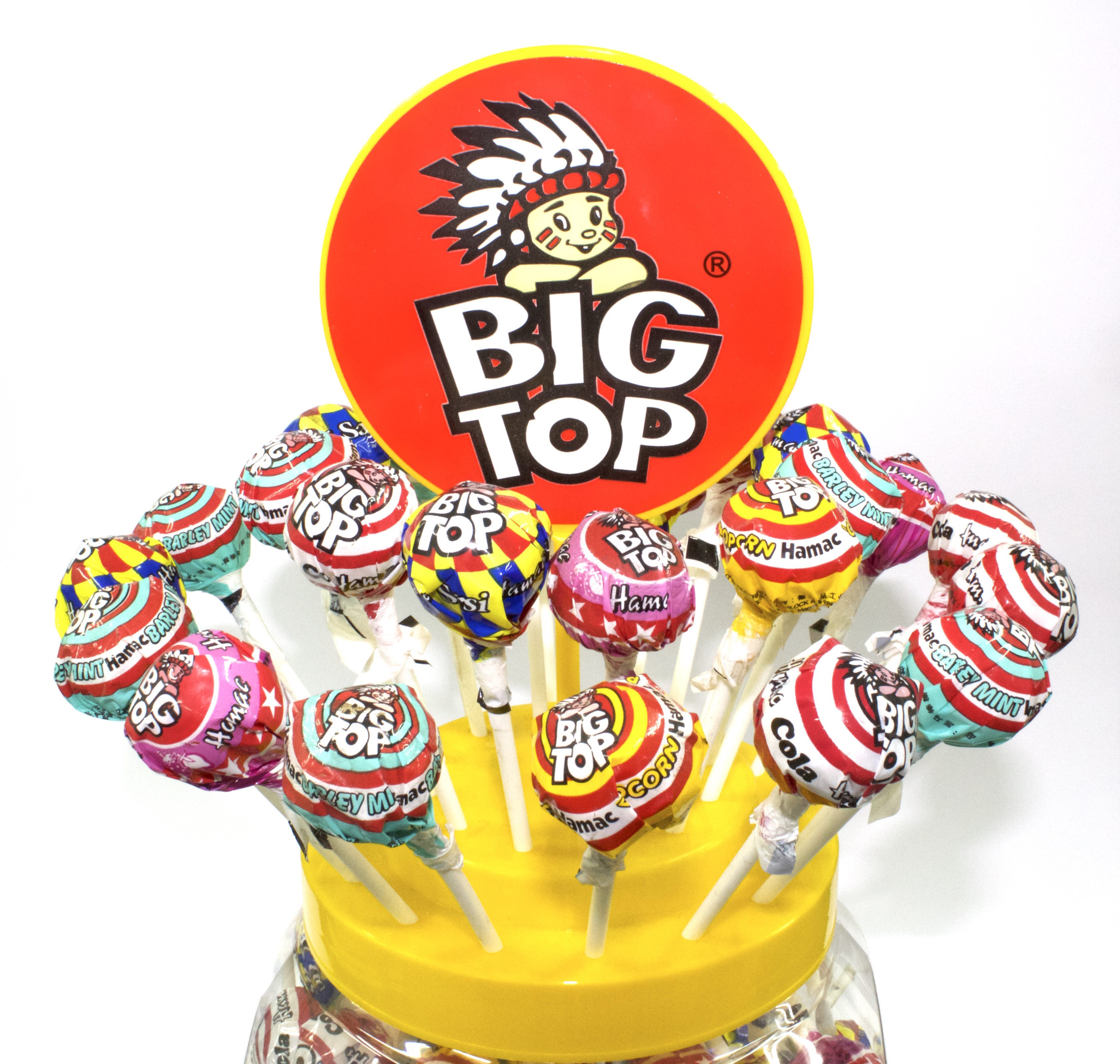 Kẹo Mút BIG TOP Sour Pops 60 pcs