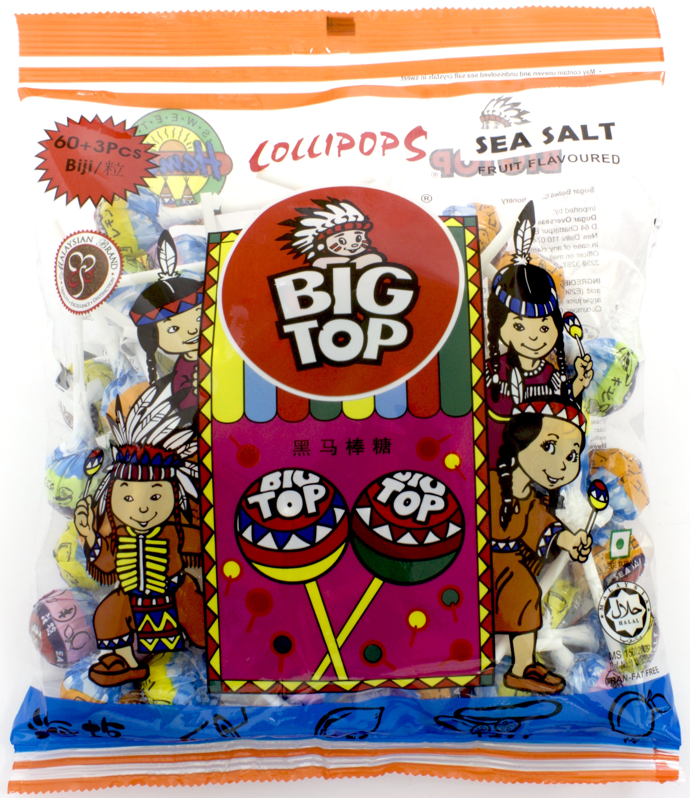 Kẹo Mút BIG TOP Sea Salt 60pcs