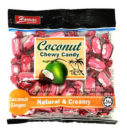 Kẹo dẻo Vị Dừa - Gừng 120gr